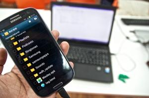 4.將電腦裡寫好的APP傳到Android手機的